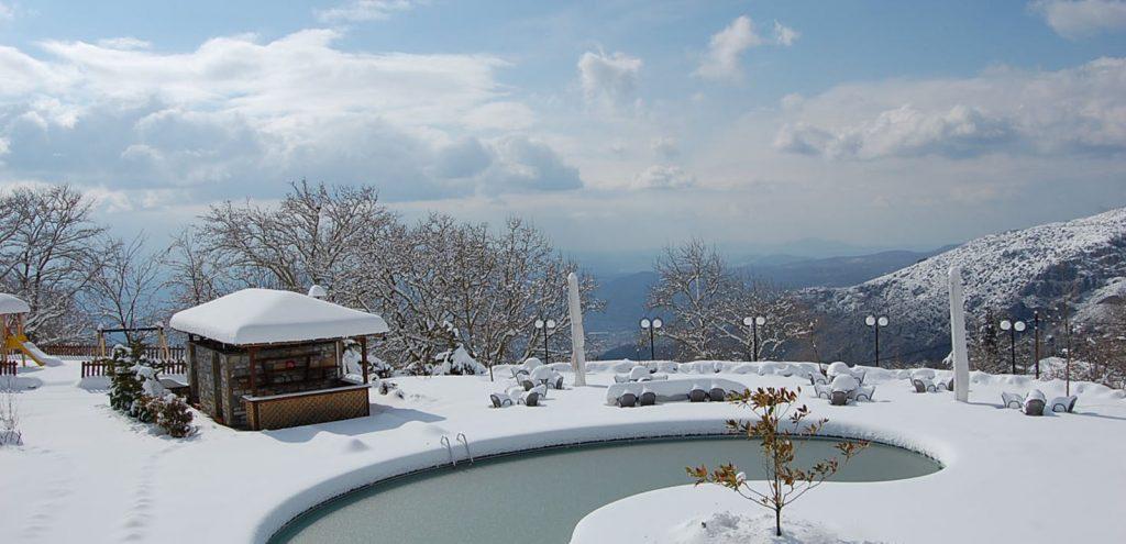 Pelion Resort Winter Snow
