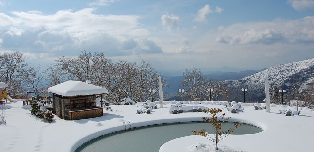 Pelion Resort Winter Snow