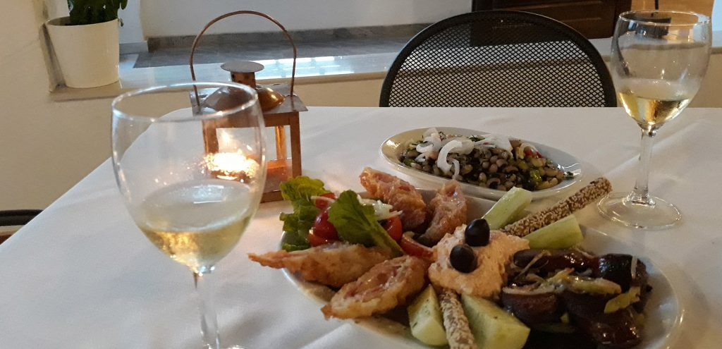 Pelion Resort restaurant wine and snacks